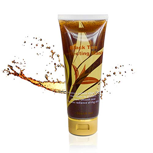 Black Tea Perfecting Facial Gel Mask, Evens Skin Tone, Reduces Pores & Wrinkles. Moisturizing, Improves Overall Complexion, Best Antioxidant, Anti-Aging, Cooling Treatment. Cleans & Soothes Face