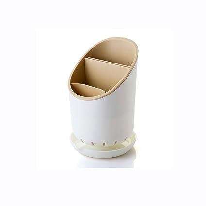WBBSN Caja de Cubiertos de plástico Palillos de desagüe Estante de la Cuchara Estante de la