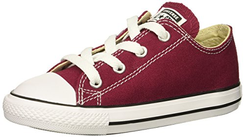 Converse Girls' Chuck Taylor All Star 2018 Seasonal Low Top Sneaker, Maroon, 9 M US Toddler