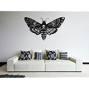 ik1123 Wall Decal Sticker death's-head moth butterfly living room bedroom