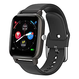 Smart Watch for iPhone Android, LCW Fitness Tracker Health Watch w/Heart Rate Blood Oxygen Monitor, Body Temperature, 1…