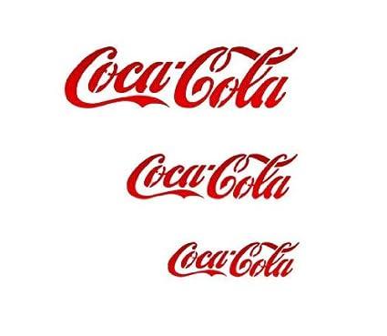 Amazon.com: J BOUTIQUE STENCILS Cocacola Stencil - Medium Size ...