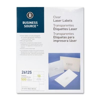 500 // Pack Business Source 26125 Mailing Label 26125 2 Width x 4 Length