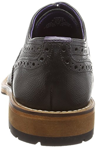 Ted Baker Mens Black Guri 8 Lederen Brogue Schoenen
