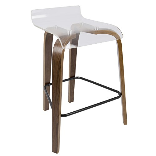 WOYBR B26-CLRT WL+CL Clarity Counter Stool