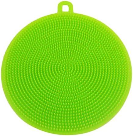 シリコーン皿洗浄スポンジスクラバー実用的な野菜洗浄キッチンクリーニングマット洗浄ツール-グリーン