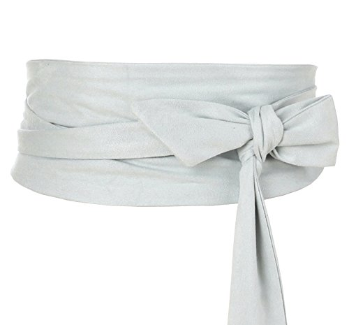 - Shengweiao Women's Self Tie Wrap Around Obi Waist Band Cinch Boho Belt (Light Dary)