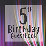 5th Birthday Guestbook: Circus Curtain Themed - Fifth Party Children Toddler Event Celebration Keepsake Book - Family Friend Sign in Write Name, ... W/ Gift Recorder Tracker Log & Picture Space