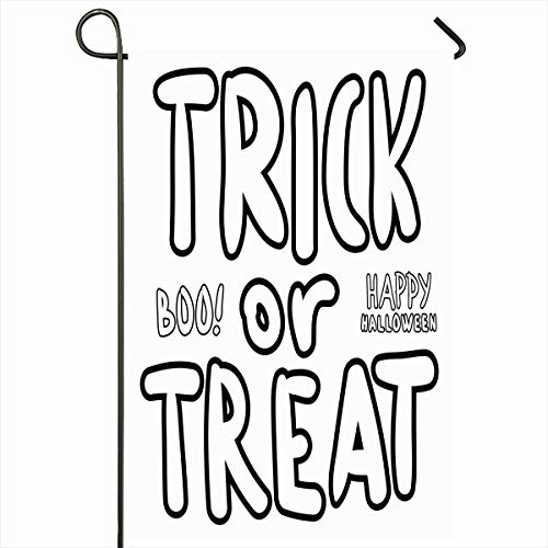 - Ahawoso Outdoor Garden Flag 12x18 Inches Imprint Trick Blank Treat Digital Stamp Laser Words Holidays Boo Coloring Contour Cutout Decal Seasonal Double Sides Home Decorative House Yard Sign