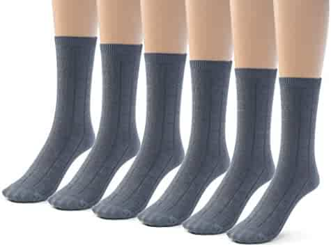 Non//Anti-Slip 1T//2T//3T//4T Active Boys//Girls Thick Warm Cushion Soft Cotton Socks 6pp