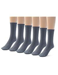 Silky Toes Girl Boys School Crew Socks Bamboo Designed, (3-6 Pairs)