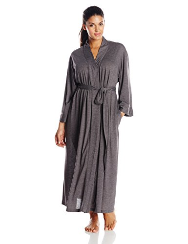 N Natori Women's Plus-Size Congo Robe, Heather Grey, 3X (Womens Plus Size Robes)