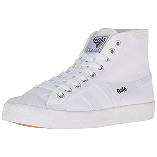 Gola Women's Coaster High Fashion Sneaker, White/White, 8 M US