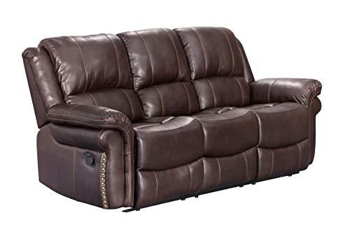Sunset Trading SU-GL-U9521S Glorious Reclining Sofa Regal Brown
