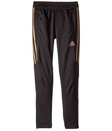 adidas Kids Boys Tiro 17 Training Pants - Metallic (Little Kids/Big Kids) Black/Metallic Rose Gold MD (10-12 Big Kids)