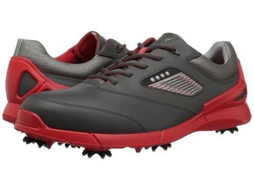 ECCO Golf(エコー ゴルフ) メンズ 男性用 シューズ 靴 スニーカー 運動靴 Base One Hydromax - Black/Scarlet [並行輸入品] B07BMPHGVJ 47 (US Men's 13-13.5) D - Medium