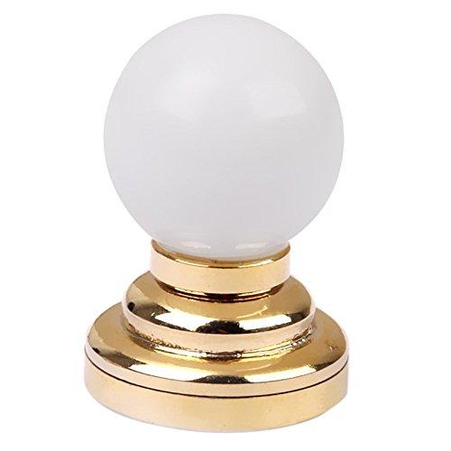 SODIAL(R) 1:12 Dolls House Miniature Globe White Ceiling LED Light Lighting Lamp with Battery