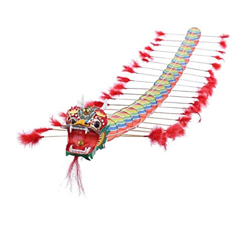 VERYNICENY Kite 4m Chinese Traditional Dragon Kite Plastic Foldable Children Outdoors Toys Sport Game Fun Creative Kite for Kids Adults Gift