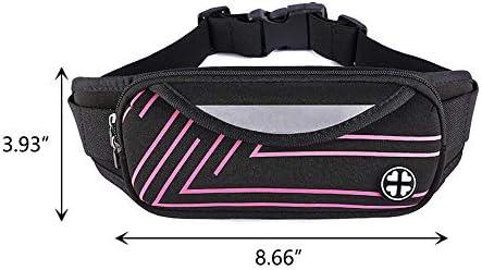 TClian Fanny Pack Waist Bag Waterproof Ultrathin Hide Purse Outdoor Sports Jogging Travel Running Belt Sling Chest Shoulder Bag