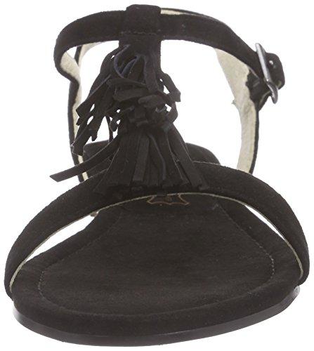 Buffalo London 315-3853 Kid Suede - Sandalias de tobillo Mujer Negro