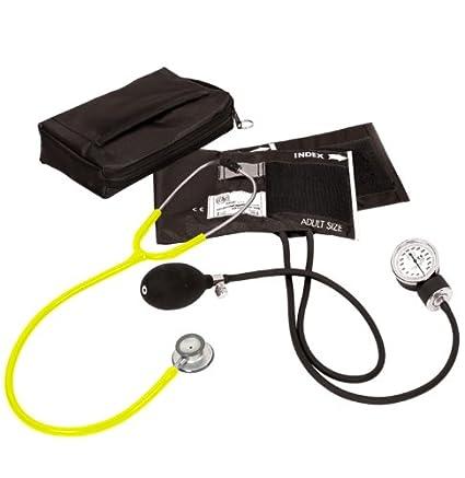 Prestige Medical – Tensiómetro aneroide/Clinical Lite Kit, Amarillo neón