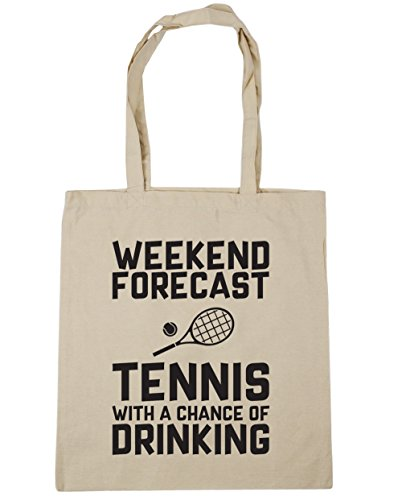 Shopping 10 Gym Tennis Forecast Beach Tote 42cm Chance of HippoWarehouse litres a Natural Weekend With Drinking Bag x38cm nZwqwv4SR