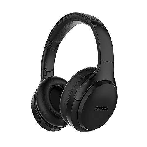 Bluetooth Headphones, Boltune Bluetooth 5.0 Active Noise Cancelling Over Ear Wireless Headphones with Mic Deep Bass, Comfortable Protein Earpads, 30H Playtime for Travel Work TV PC Cellphone