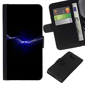 LECELL--Cuero de la tarjeta la carpeta del tirón Smartphone Slots Protección Holder For Samsung ALPHA G850 -- Rayo Ripple --