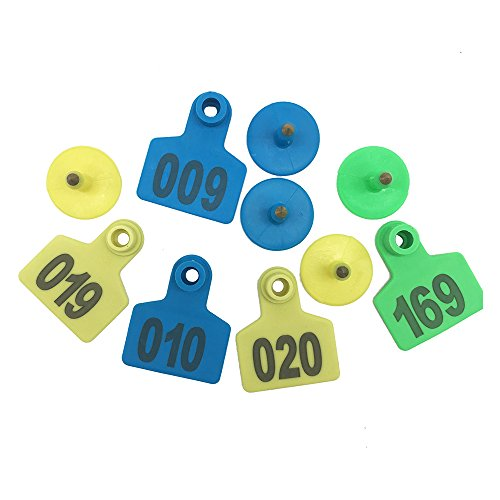 001-1000 Ear Tags Animal Identification Tags Livestock Cattle Sheep Pig Ear Mark (Blue) by General (Image #6)