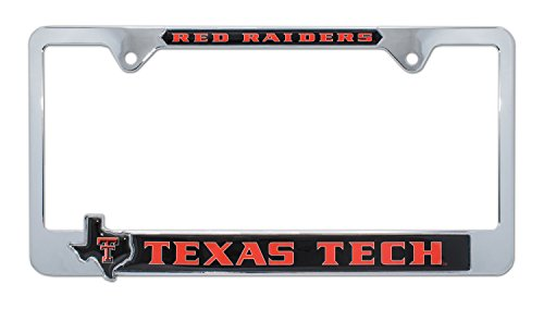 Texas Tech License Plate Frame Variation (3D Black (Raiders 3d License Plate)