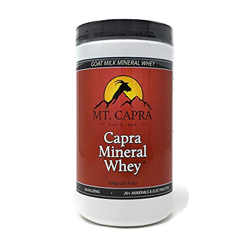 Mt. Capra - Capra Mineral Whey, 720 grams Powder Goat Milk Minerals and Electrolytes From Grass-Fed Pacific Northwest Goats Bio-Organic Potassium, Calcium, Phosphorus, Magnesium Supplement Complex