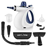 ShamBo Handheld Pressurized Steam Cleaner with 9-Piece Accessory Set - Multi-Purpose and Multi-Surface All Natural, Chemical-Free Steam Cleaning for Home, Auto, Patio, More
