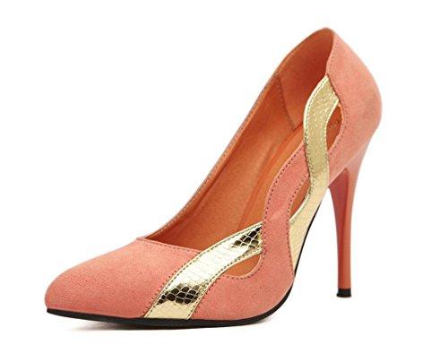 YCMDM cucitura tacco alto ha indicato i pattini delle nuove donne di modo della molla arancione Red Rose 35 36 37 38 39 , orange , 39