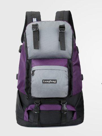 Mochilas de senderismo, bolsas, bolsas de senderismo, bolsas al aire libre, impermeable Mochila de viaje al aire libre senderismo bolsa bolso de viaje Outdoor montañismo hombres y mujeres hombros,amar Violet