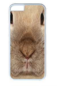 Big Face Bunny Polycarbonate Hard Case Cover for White