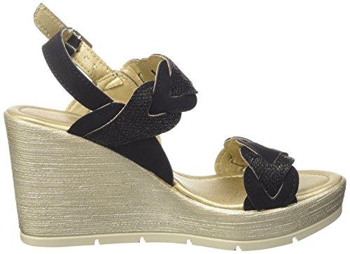 Inblu CH000019, Sandalias de Cuña Mujer Negro