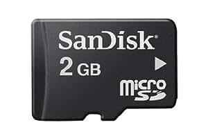 SanDisk SDSDQM-002G-B35 Tarjeta de Memoria Micro SDHC de 2 GB Negro