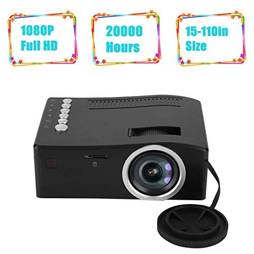 Diyeeni Mini TFT LCD Projektor, 1080p Full HD tragbarer Videoprojektor mit 20.000 Stunden LED, max.110-Zoll-Display…