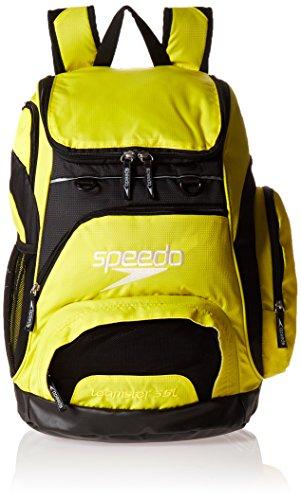 Speedo Large Teamster Backpack, Blazing Yellow/Black, 35-Liter