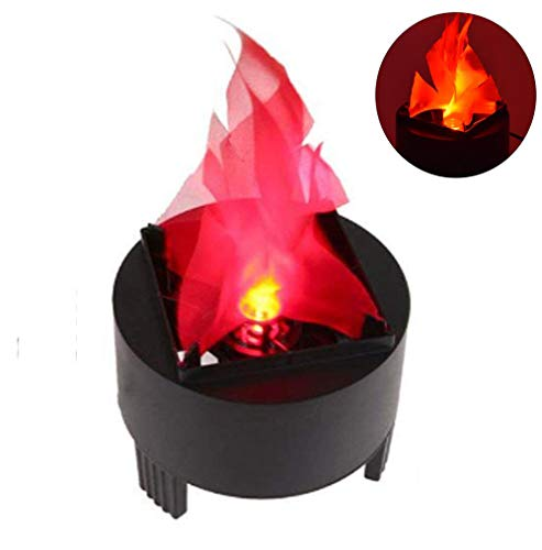 TOPCHANCES 3W LED Artificial Fire Lamp Fake Flame Effect Lamp 3D Fire Campfire Centerpiece Flame Lightning Torch Light with US Plug for Christmas Halloween Party Decoration (Flame -