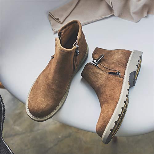 LOVDRAM Stiefel Männer Herbst Und Winter Winter Und Herrenschuhe Casual Martin Stiefel Chelsea Stiefel In Der Tube High-Top Schuhe Stiefel 9f7bd6