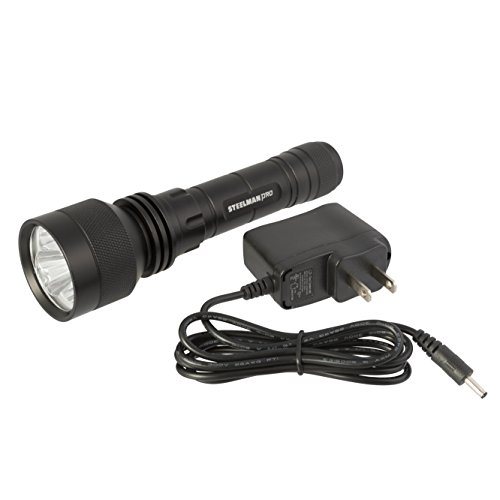 PRO  700 Lumen CREE LED Rechargeable Tactical Flashlight; High, Low, and Strobe modes; IPX4 Water-resistant rated - STEELMAN 96792