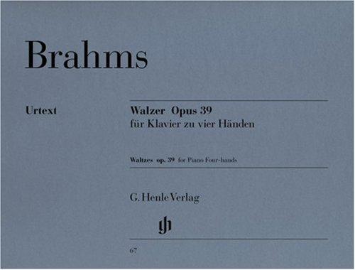 Brahms: Waltzes, Op. 39 (1 Piano, 4 Hands) pdf