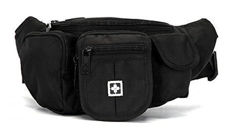 e5750987ab SUISSEWIN Fanny Pack Waist Bag Travel Pocket Sling Chest Shoulder Bag Phone  Holder Running Belt with
