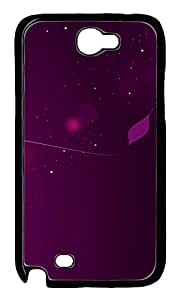 Samsung Galaxy Note II N7100 Cases & Covers - Pink And Purple PC Custom Soft Case Cover Protector for Samsung Galaxy Note II N7100 - Black