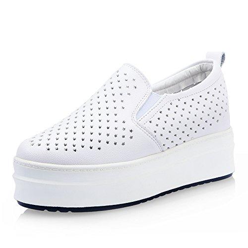 Hueco estrellas zapatos en verano/Zapatos de plataforma/Zapato de mujer alta transpirable/Zapatos de suela gruesa/Mocasín/Zapatos del ocio Coreano A