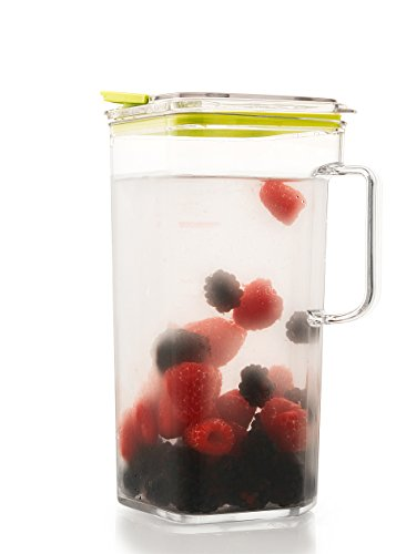 Komax Tritan Clear Large (2 quart) Pitcher With Green Lid BPA-Free - Great for Iced tea & Water by Komax (Image #2)