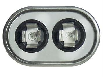 C307L // 27L566 FAST SHIPPING Genteq GENTEQ replaces old GE# 97F9001, Z97F9001, 97F9001BX /& 27L566BZ3 27L566S 7.5 MFD at 370 volts GE Capacitor Oval 7.5 uf MFD 370 volt 27L566