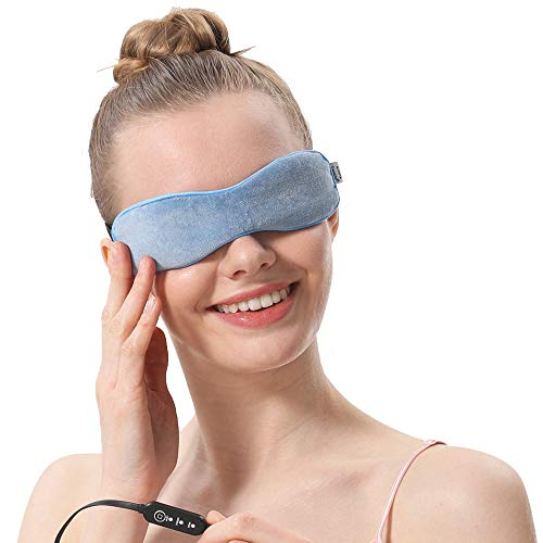 Aroma Season Moist Heated Eye Mask with Flaxseed, Warm Therapy to Clog glands, Relieve Dry Eye Syndrome, MGD and Blepharitis (Blue)