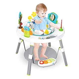 3 In 1 Baby Jump Rocking Chair, Multi-Function Children's Fun Activity Center Workbench With Pedal Piano, Bounce Baby Saucer Jump and Learn Jumper, Baby's View 3-stage Interactive (Multicolour)